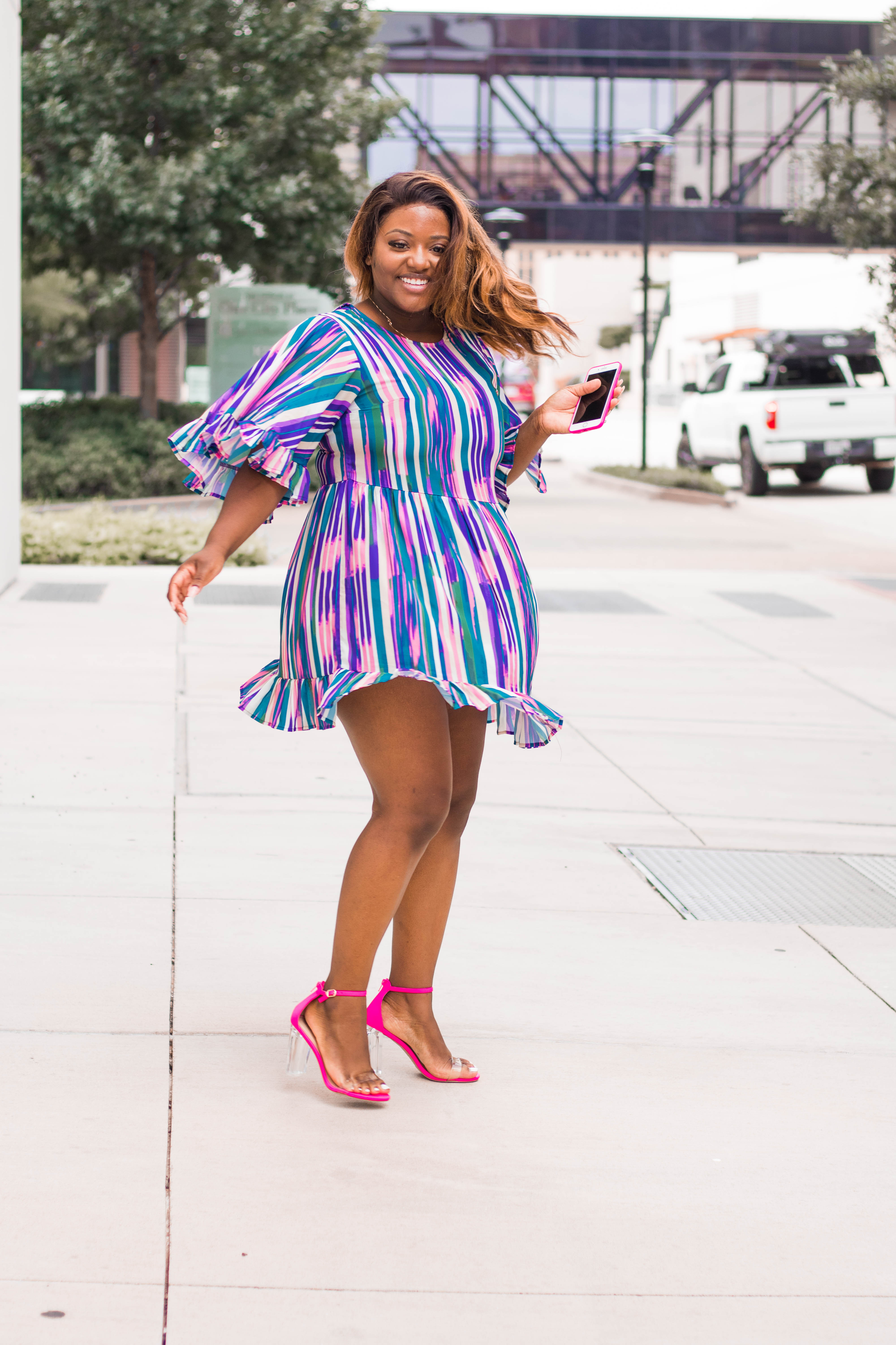 Colorful striped dress from SHEIN