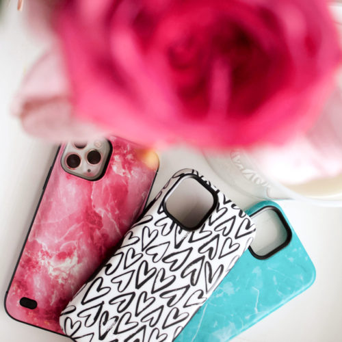 Pink Roses and iPhone 11 Pro Phone cases