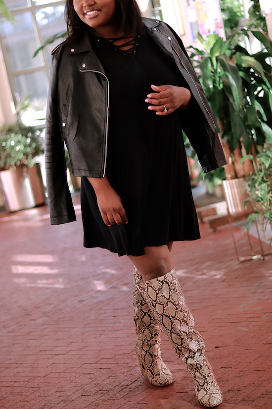 Black on Black on Snake Boots