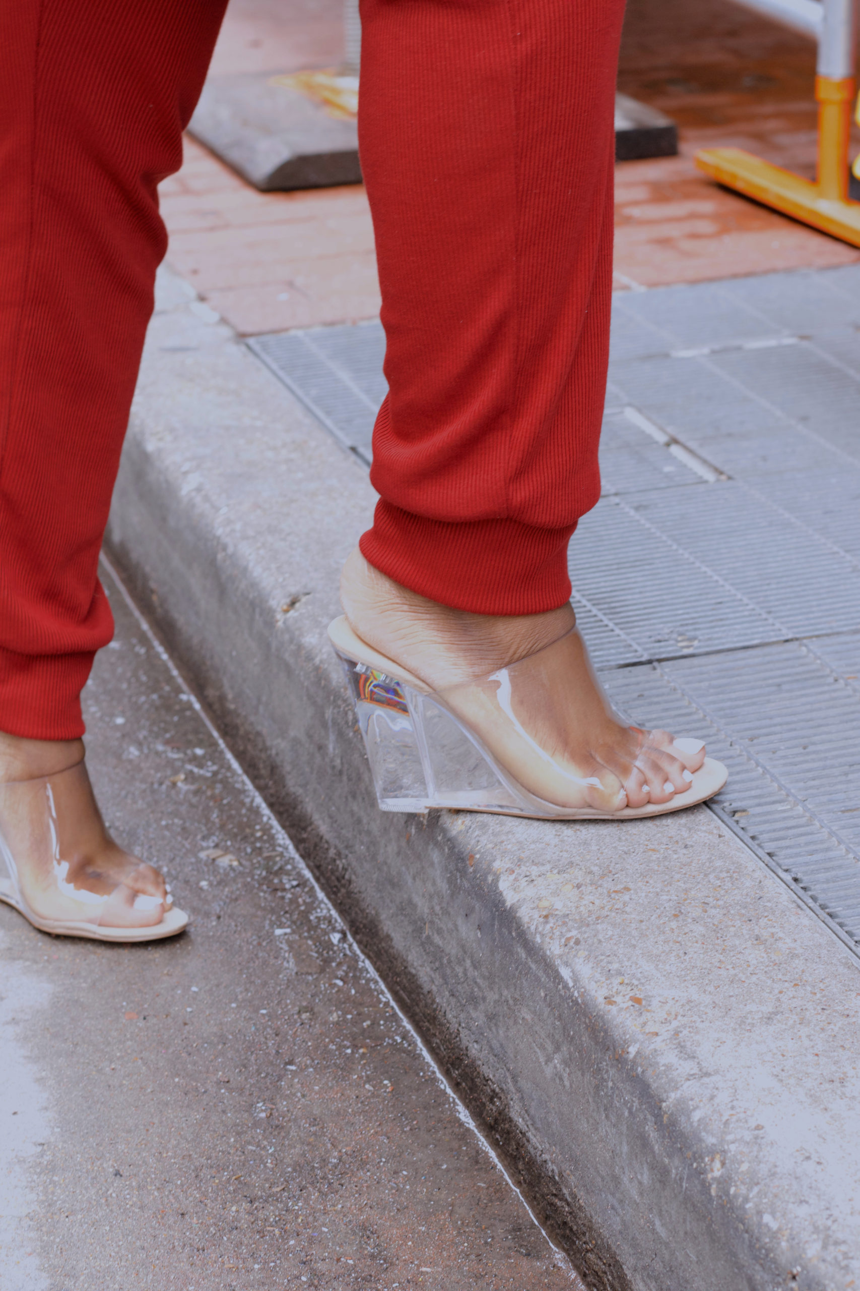 Clear no strap heels from Shoedazzle