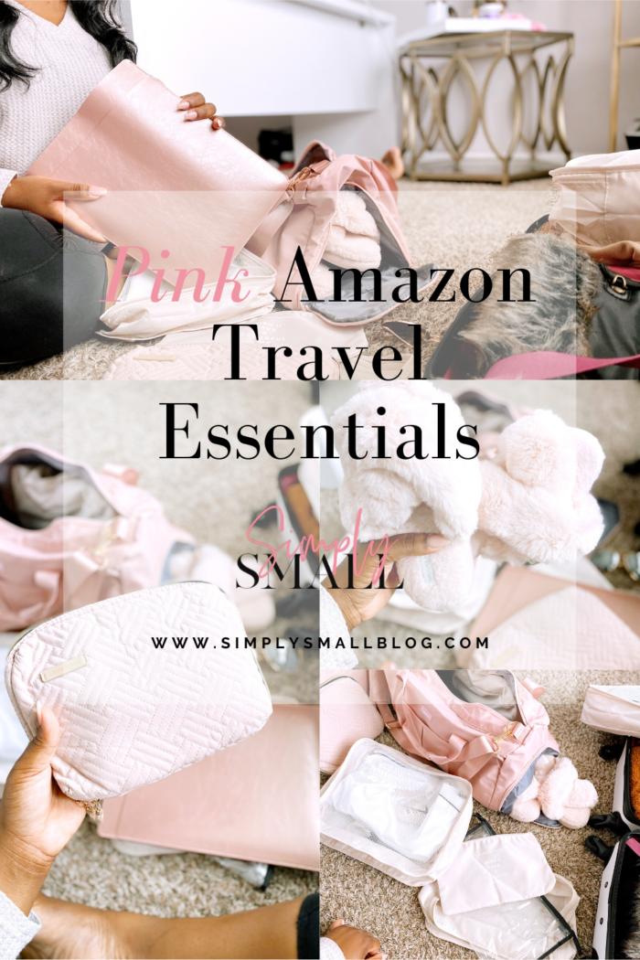Pink Amazon Travel Essentials. . .