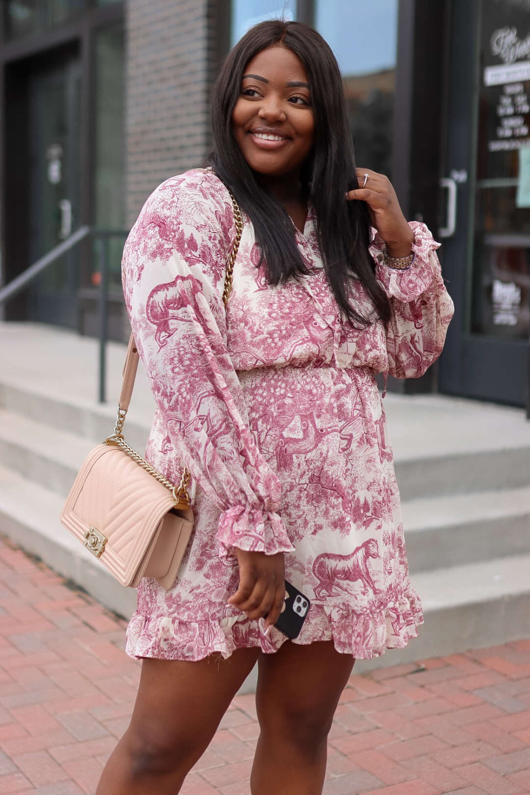 Print dress from Missguided