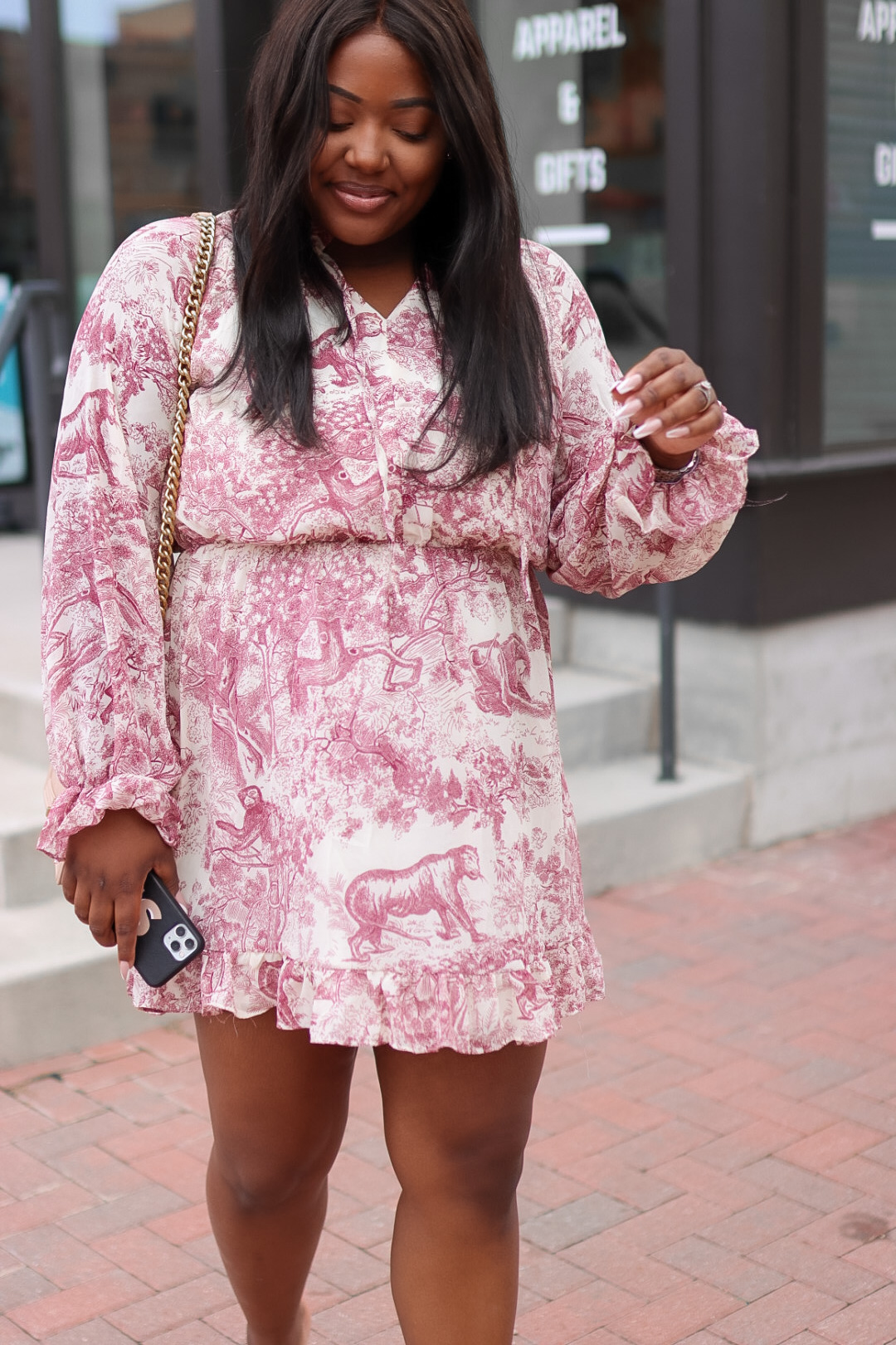 Print dress, fall looks from Missguided